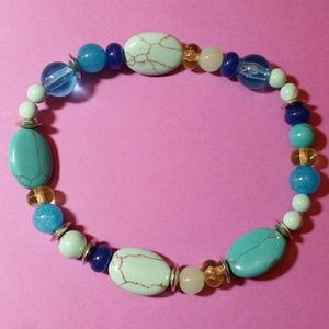Other - TURQUOISE MULTI BEAD BRACELET